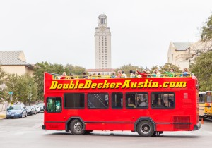 Double Decker Austin Sightseeing Tour Bus Stops Schedule and Prices